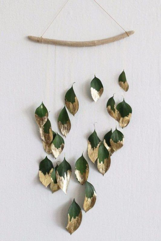 deco noel feuilles